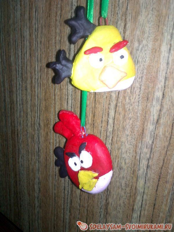 Angry Birds из соленого теста