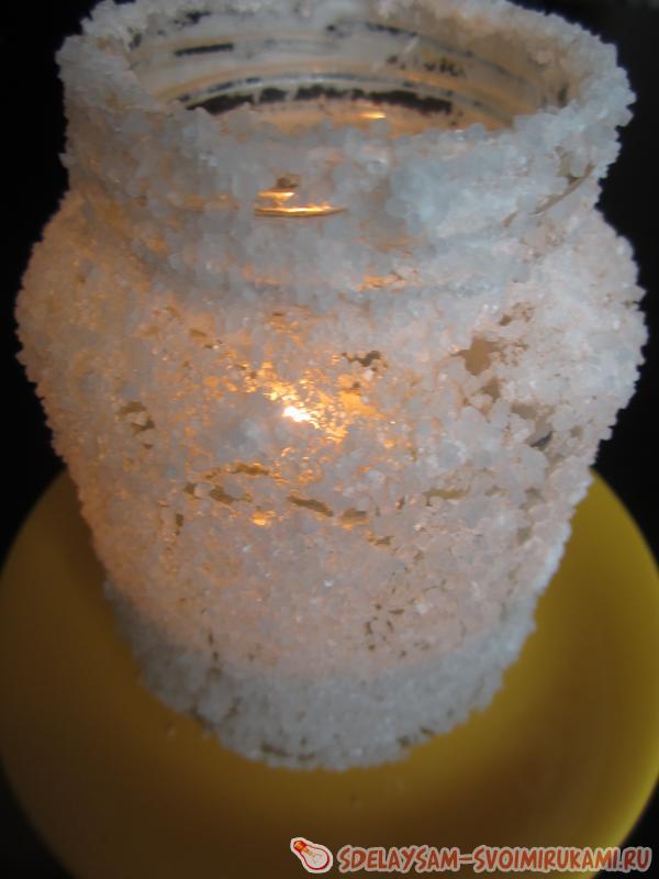 подсвечник из морской соли