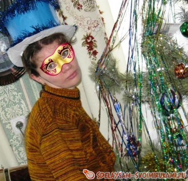Карнавальная шляпа-цилиндр