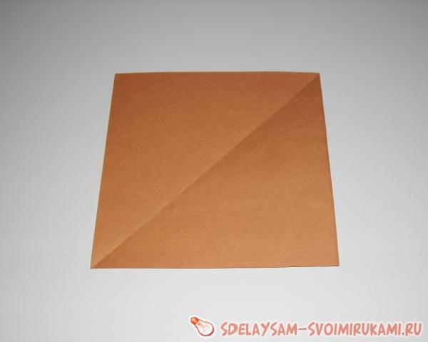 сгибаем лист