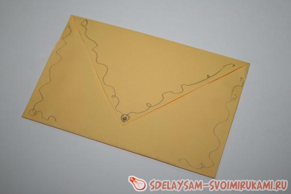 Самодельный конверт для почты