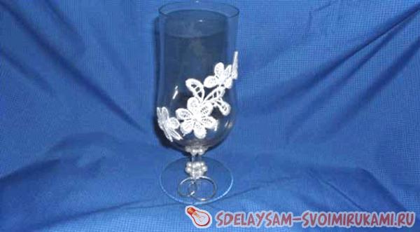 оформить свадебные бокалы