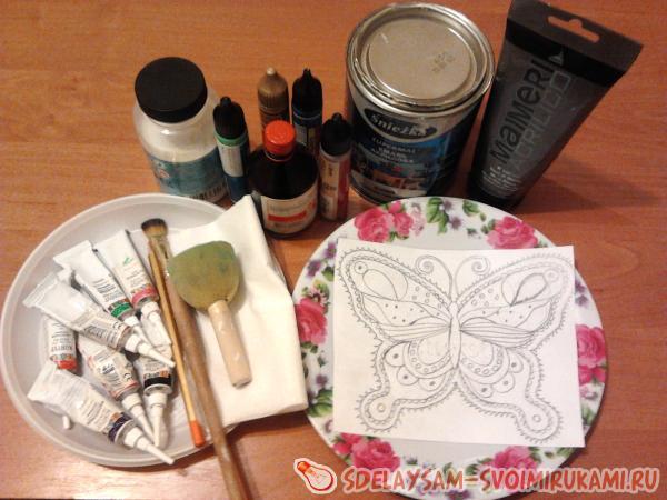 Летняя бабочка №3 (точечная роспись)