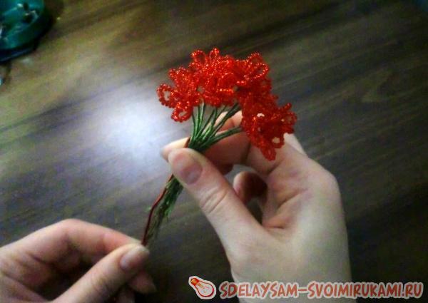 с оставшимися цветочками
