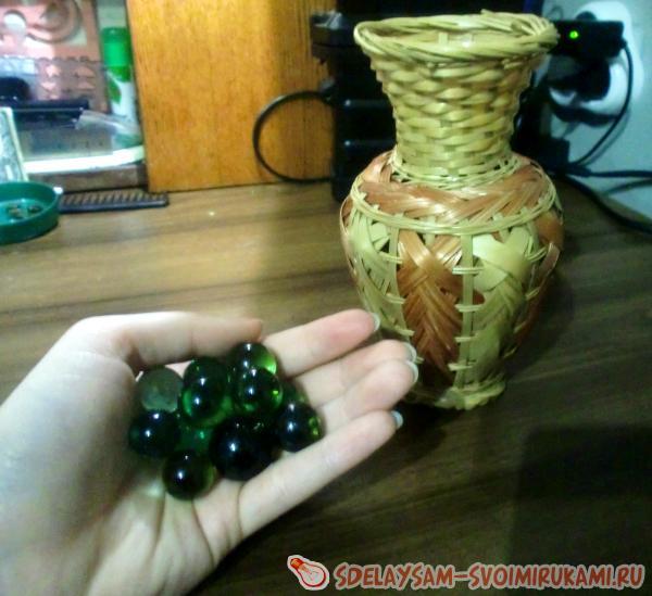 стеклянные шарики в вазу