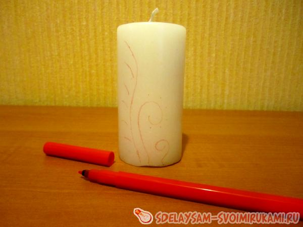 draw on the candle