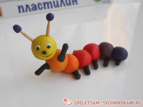 plasticine caterpillar