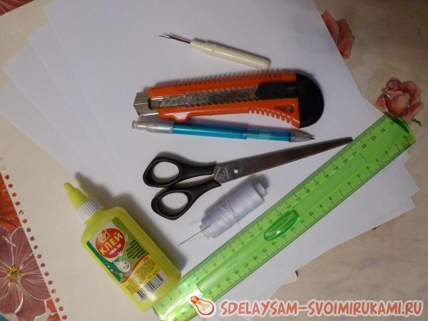 потребовались следующие инструменты