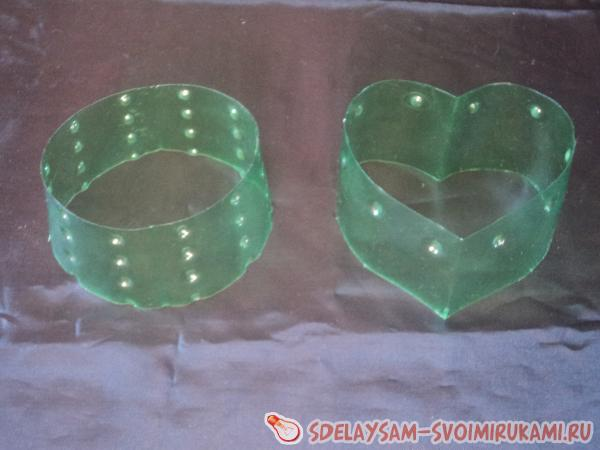 Придаем шкатулке форму сердца