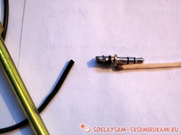 ремонт штекера наушников мастер класс своими руками