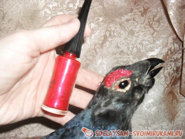 обработать клюв птицы