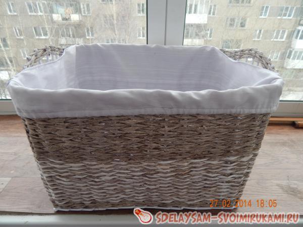 Плетение корзины для белья
