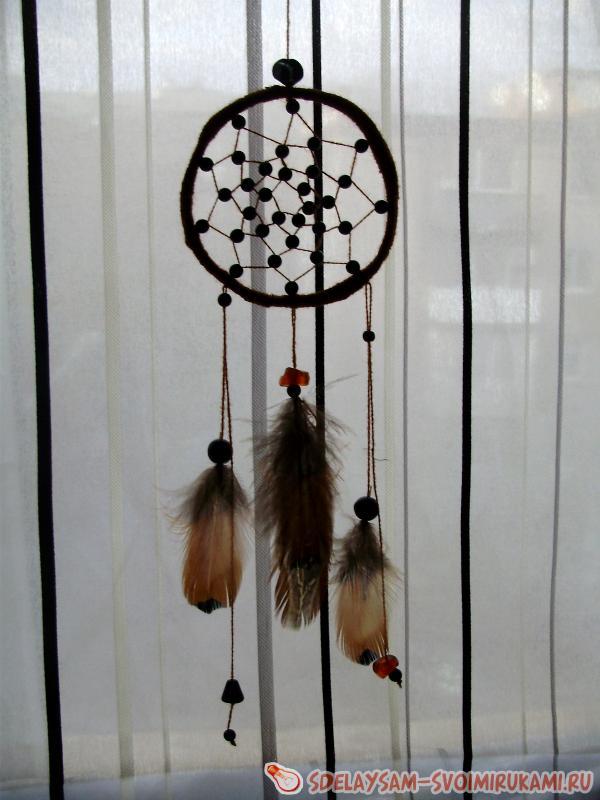 Изготовление индейского ловца сновидений