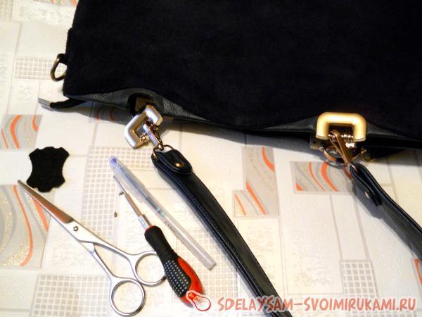 Как отремонтировать ручки у сумки своими руками
