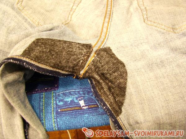 darning jeans at home