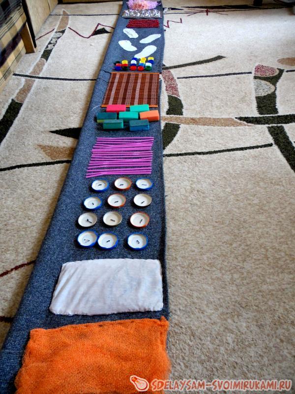 Массажные коврики своими руками для детей 71