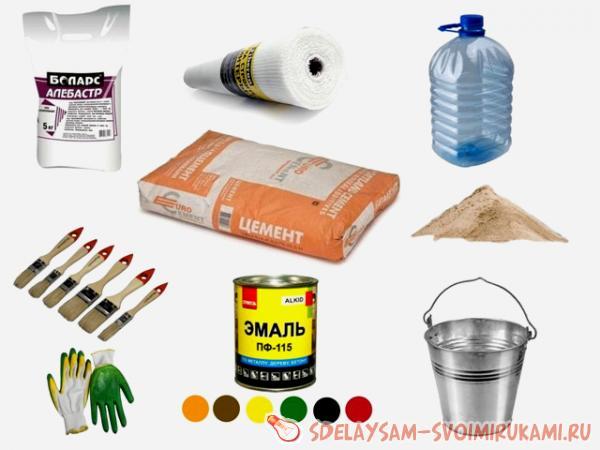 prepare the cement