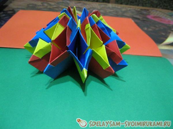 Игрушка-трансформер из цветной бумаги