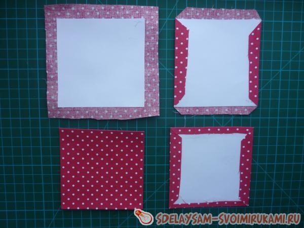 Подставка для бумажек в технике картонаж