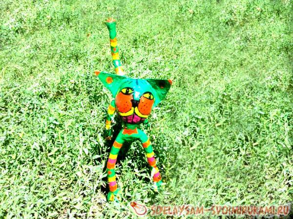 садовая скульптуру кота