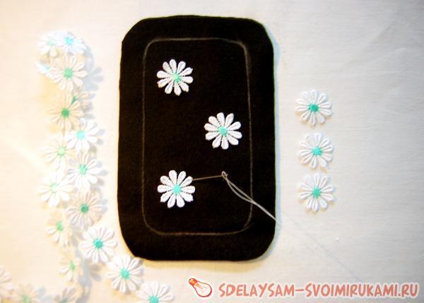 пришываем цветочки