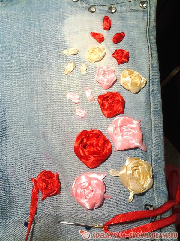 приступаем к вышивке самих роз
