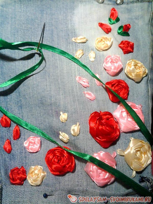 расшивать розы