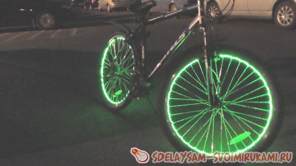 Как подсветить колеса велосипеда