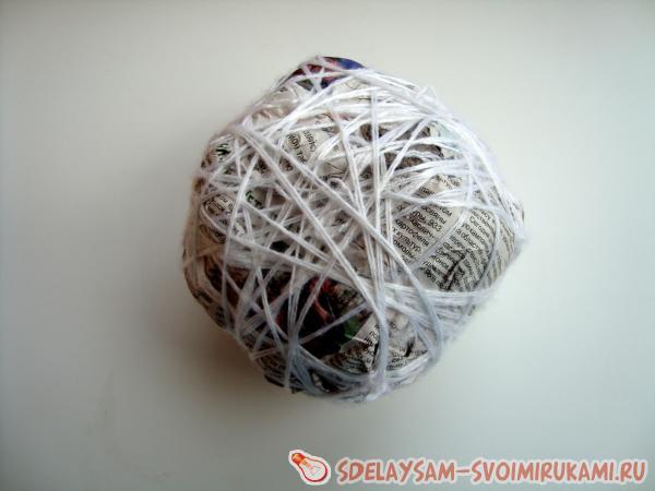формируем шар для топиари