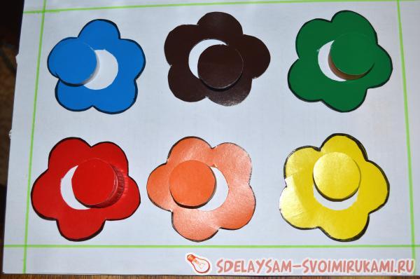 Детская игра «Учим цвета»