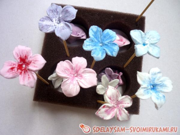 Цветы для из полимерной глины