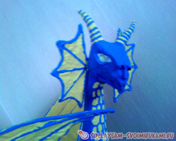 Dragon from construction foam