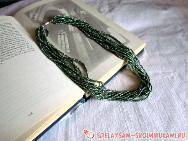 Beaded surround necklace