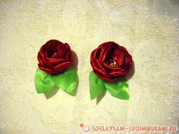 заколка Цветущие тюльпаны