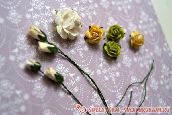 Приступаем к украшению из цветов