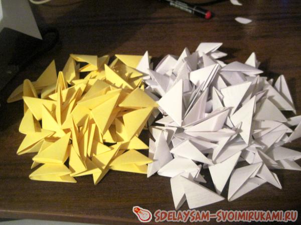Кошечка из модульного оригами
