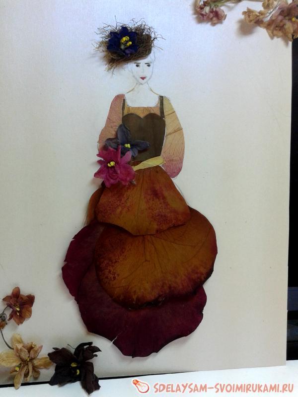 Картина Дама с букетом