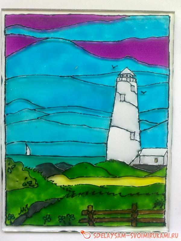 stained glass made on glass