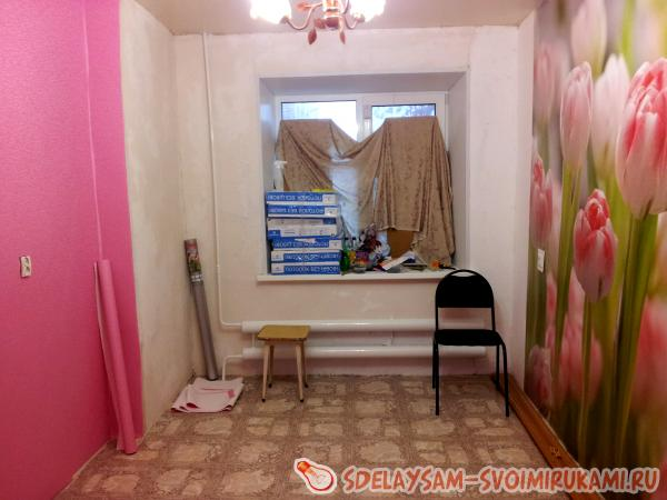 Pasting wallpaper and wallpaper