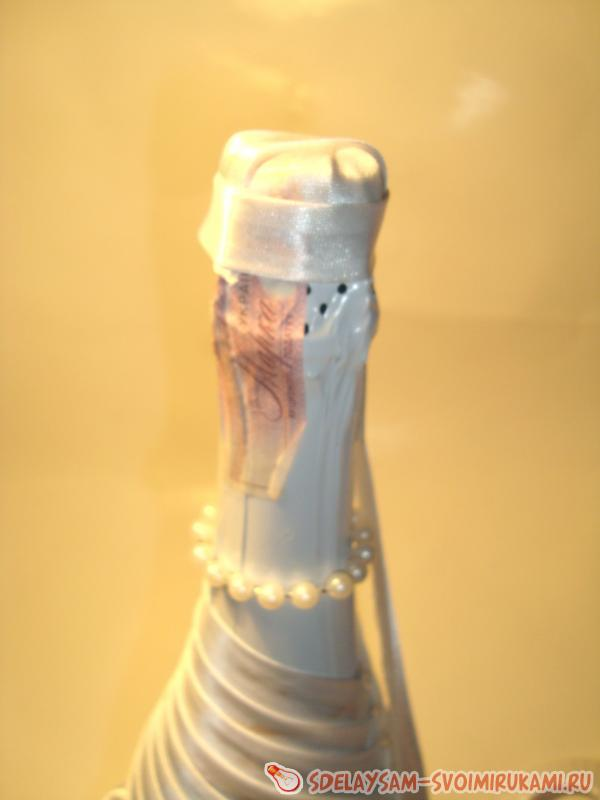 Wedding bottle-bride