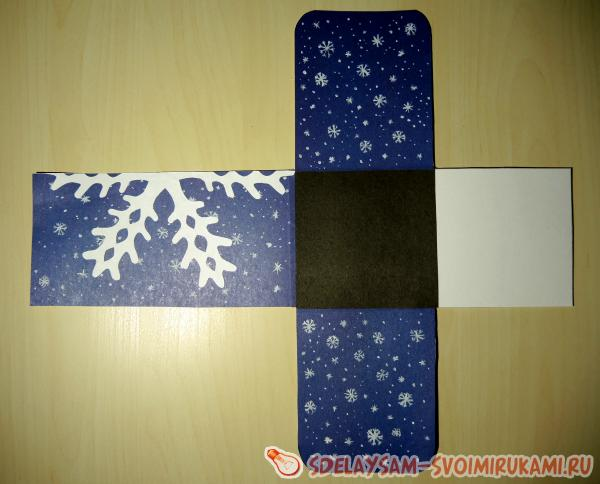 glue a piece of snowflake