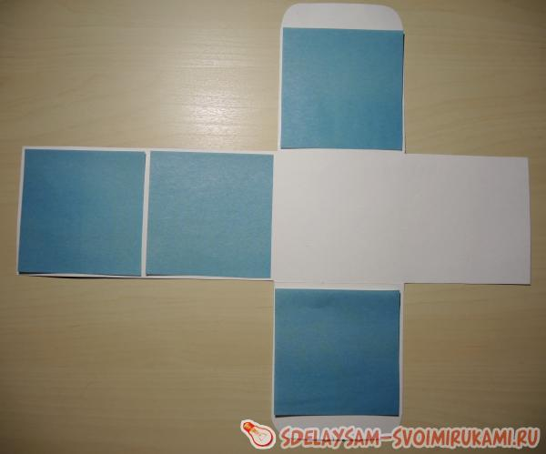 draw a square of white paper