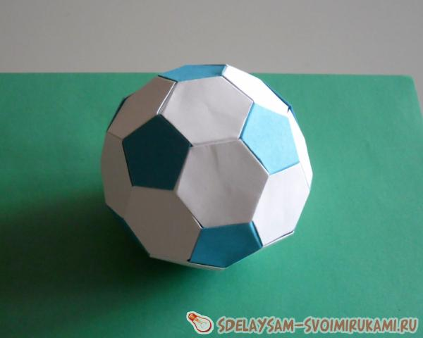 a volume ball from paper