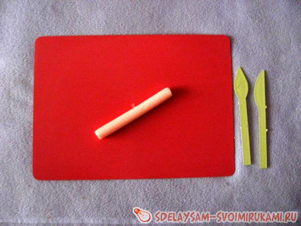 Овечка из полимерной глины
