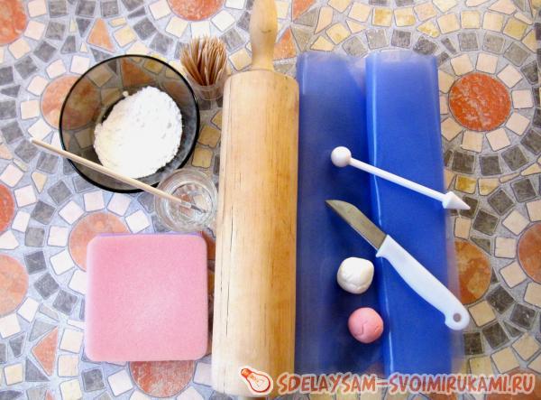 Роза из мастики пошагово - Простые рецепты вкусных десертов