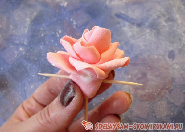 Как сделать розу из мастики