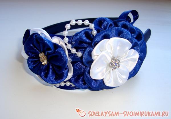 Как сделать ободок «Синяя волна»