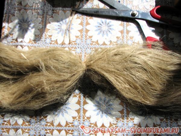 Формируем волосы из пакли