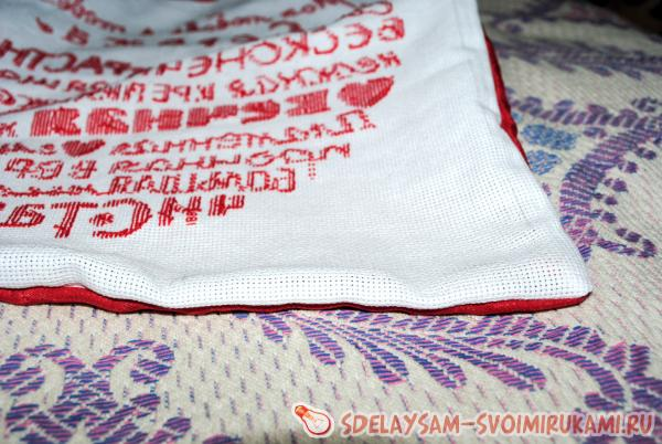 cushion with embroidery