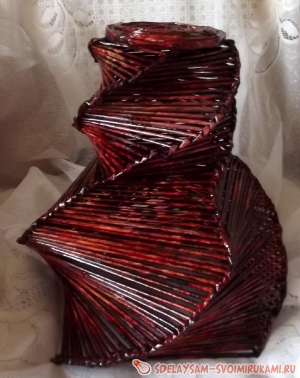 spiral paper vase